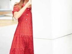 EI.女装波点元素连衣裙 浓郁的流行气息