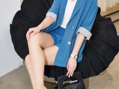 蓝色倾情低调不张扬的职场穿搭 谁穿都好看 高雅还高级