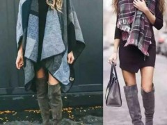 冬天女生裙装搭配靴子方法