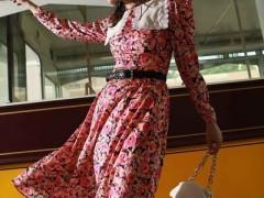 雅芙初秋长裙服装搭配太美了 时髦美丽更风韵