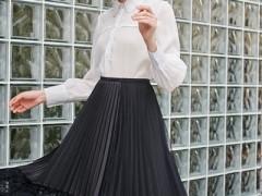 雁腾逸初秋时尚半身裙+衬衣 时髦显瘦超好看