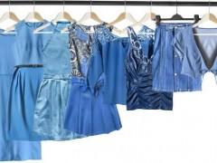 蓝色服装穿搭那种颜色好看?