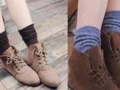 短靴搭配九分裤配什么袜子