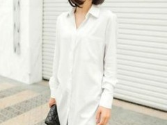 长款白衬衫怎么样搭配?