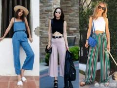 今年时尚的阔腿裤如何穿好看?