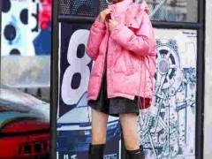 领卉冬天穿粉色衣服最温顺