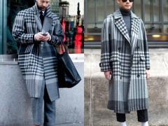 男性条纹格纹大衣,这个冬天可不可以忽视!