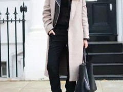 宽松裤装配大衣,如此穿才最时髦!
