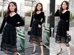 黑色连衣裙配哪种颜色鞋子?